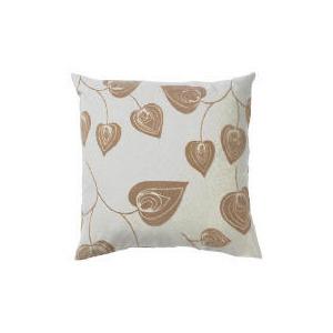 Photo of Tesco Flock Leaf Cushion, Natural, Lola Cushions and Throw