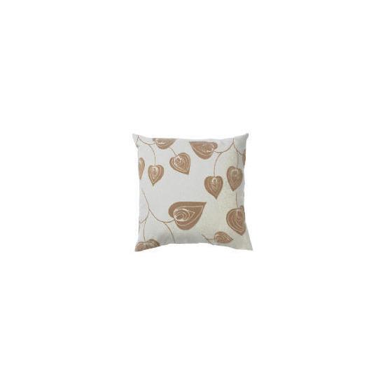 Tesco Flock Leaf Cushion, Natural, Lola