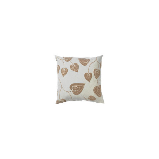 Tesco Flock Leaf Cushion, Natural, Lola