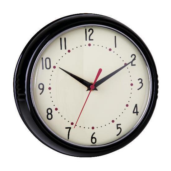 Tesco Retro Black Clock