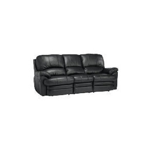 Photo of Apollo Large Leather Recliner Sofa - Black Furniture