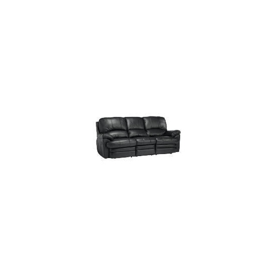 Apollo Large Leather Recliner Sofa - Black