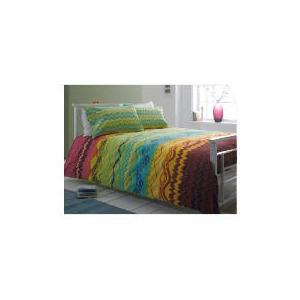 Photo of Tesco Zig Zag Print Duvet Set Kingsize, Multi-Coloured Bed Linen