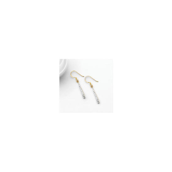 9ct Gold Crystal Set Teardrop Earrings