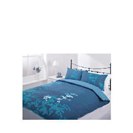 Tesco Silhouette Print Duvet Set Double, Teal Reviews