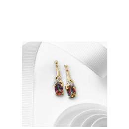 9ct Gold Mystic Topaz and Diamond Earrings Reviews
