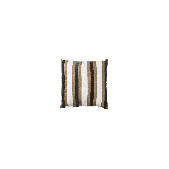 Tesco Velvet Stripe Cushion, Ellis