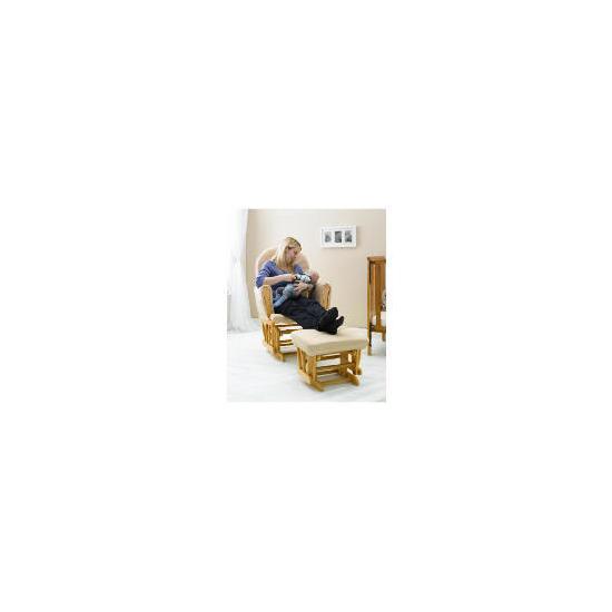 Saplings Classic Glider Chair + Footstool