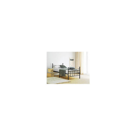 Lincoln Sgl Bed Frame, Black
