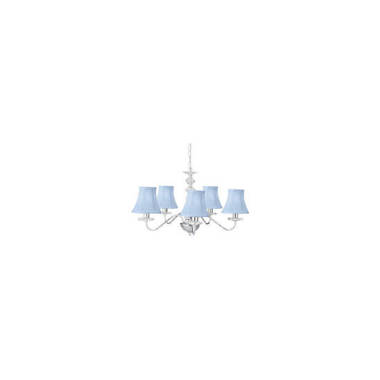 Twisted Shade Chandelier, Blue