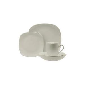 Photo of Tesco Mono Square Dinnerware Set 16 Piece, Cream Dinnerware