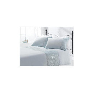 Photo of Tesco Rose Sequin Embroidered Duvet Set Double, Aqua Bed Linen