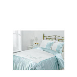 Tesco Amiee Embroidered Duvet Set Double, Cloud Reviews