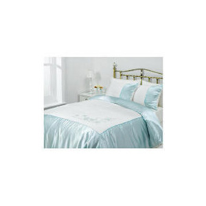Photo of Tesco Amiee Embroidered Duvet Set Double, Cloud Bed Linen