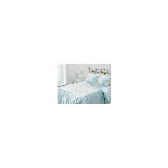 Tesco Amiee Embroidered Duvet Set Double, Cloud