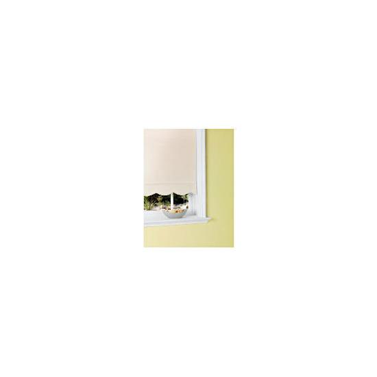 Scalloped Edge Roller Blind 180x160cm White