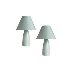 Photo of Tesco Pair Taper Ceramic Table Lamps Lighting