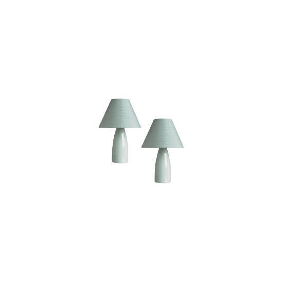 Tesco Pair Taper Ceramic Table Lamps