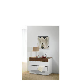Mugello 4 Drawer Chest, White/Dark Walnut Finish Reviews
