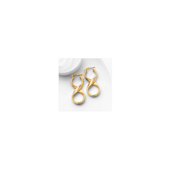 9ct Gold Fancy Twist Hoops