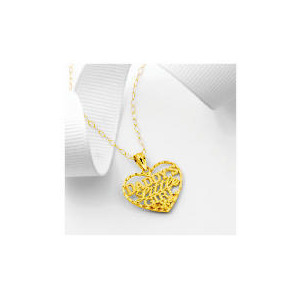 Photo of 9CT Gold Daddys Little Girl Heart Pendant Jewellery Woman