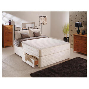 Photo of Sealy Classic Memory Comfort King 4 Drawer Divan Set Bedding