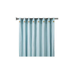 Photo of Pair Of Tesco Plain Canvas Unlined Belt Top Curtains, Duck Egg Curtain