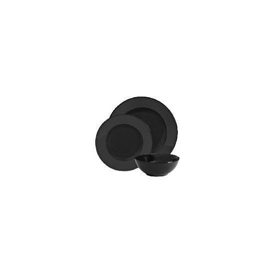 Tesco Mono Dinnerware Set 12 piece, Black