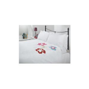 Photo of Tesco Tropical Applique Duvet Set Kingsize, White Bedding