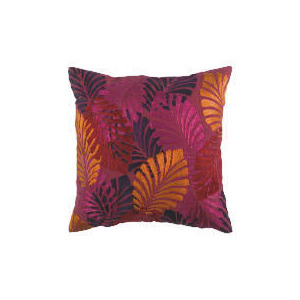Photo of Tesco Bold Leaf Embroidered Cushion, Jasmine Cushions and Throw