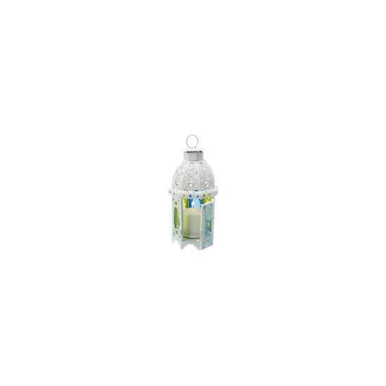 Tesco Coloured Glass Lantern, Large