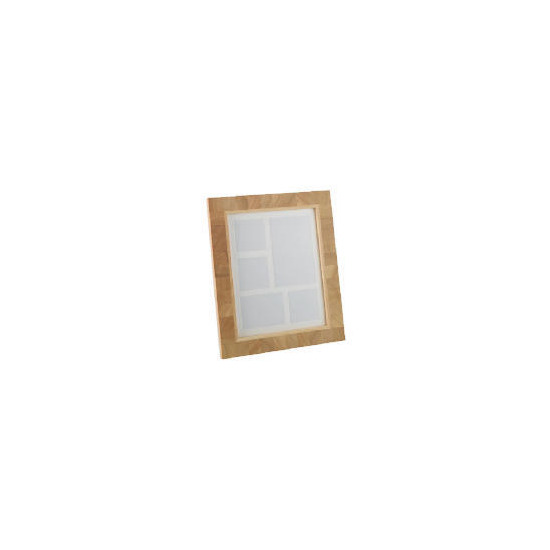 Tesco Light Wood Block 5 Aperture Frame