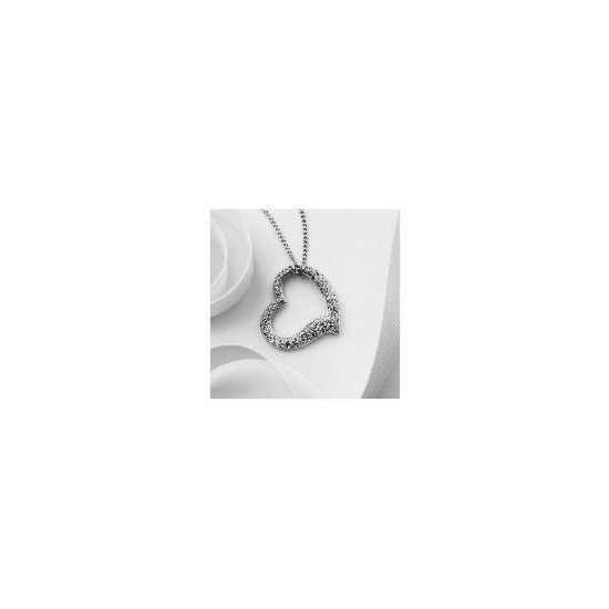 Pave Open Your Heart Pendant