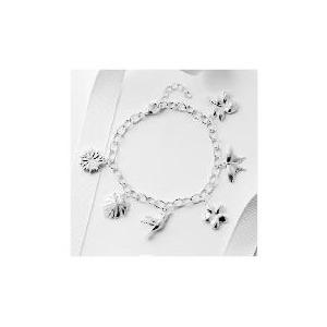 Photo of Silver Multi Charm Bracelet Jewellery Woman
