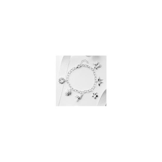 Silver Multi Charm Bracelet