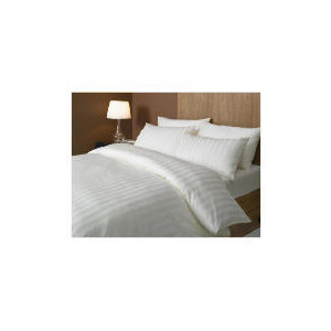 Photo of Hotel 5* Satin Stripe Duvet Set Superking, Cream Bed Linen