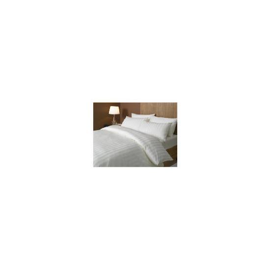 Hotel 5* Satin Stripe Duvet Set Superking, Cream