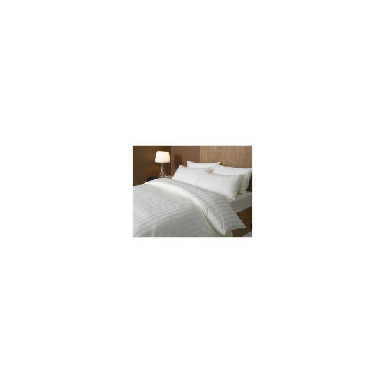 Hotel 5* Satin Stripe Duvet Set Superking, Cream