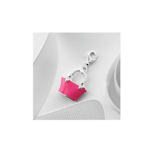 Photo of Silver Pink Enamel Handbag Charm Jewellery Woman