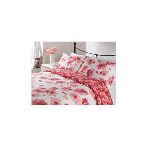 Photo of Tesco Rose Bloom Print Duvet Set Kingsize, Cream Bed Linen