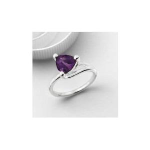 Photo of Silver Purple Cubic Zirconia Ring Jewellery Woman