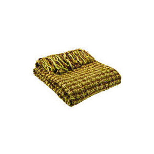 Photo of Tesco Woven Boucle Throw Green, Hudson Cushions and Throw