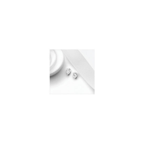 9ct White Gold Pear Cut Cubic Zirconia Studs