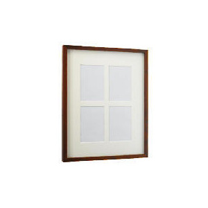 Photo of Tesco Block Dark Wood Frame 4 Aperture Photo Frame