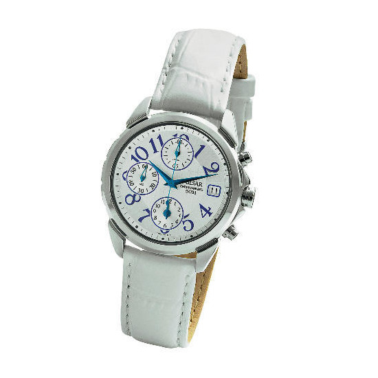 Pulsar Ladies White Chronograph Watch