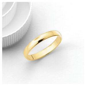 Photo of 18CT Gold 3MM Wedding Band, L Jewellery Woman