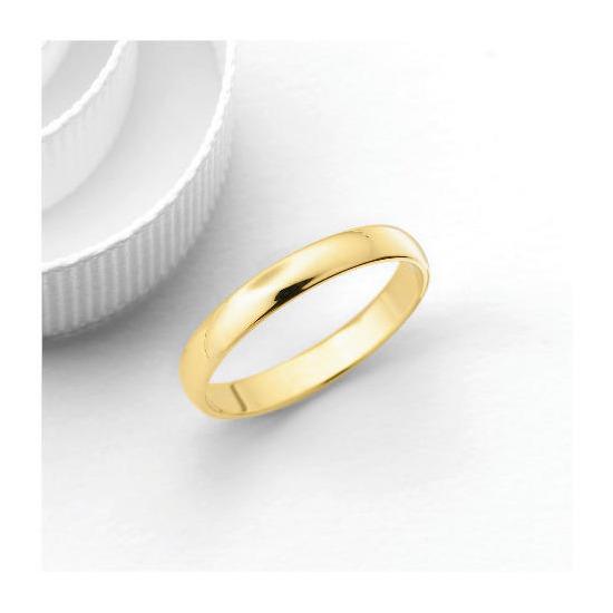 18ct Gold 3mm Wedding Band, L