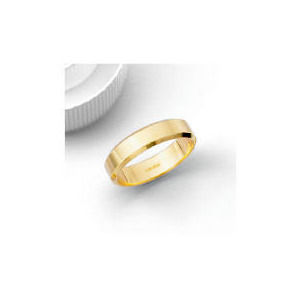 Photo of 9CT 5MM Bevelled Edge Wedding Band V Jewellery Woman