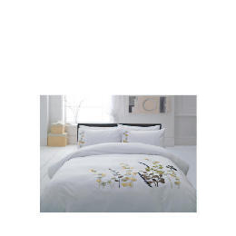 Tesco Botanical Applique Duvet Set Kingsize, White Reviews