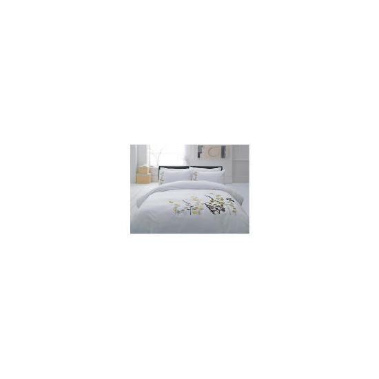 Tesco Botanical Applique Duvet Set Kingsize, White